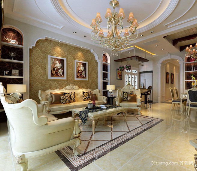 欧式联排小别墅客厅装修图片大全