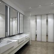 白色简约风格洗手间装饰