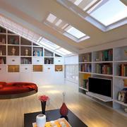 现代大户型一居室阁楼装修效果图