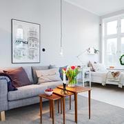 北欧清新简约风格客厅沙发装饰