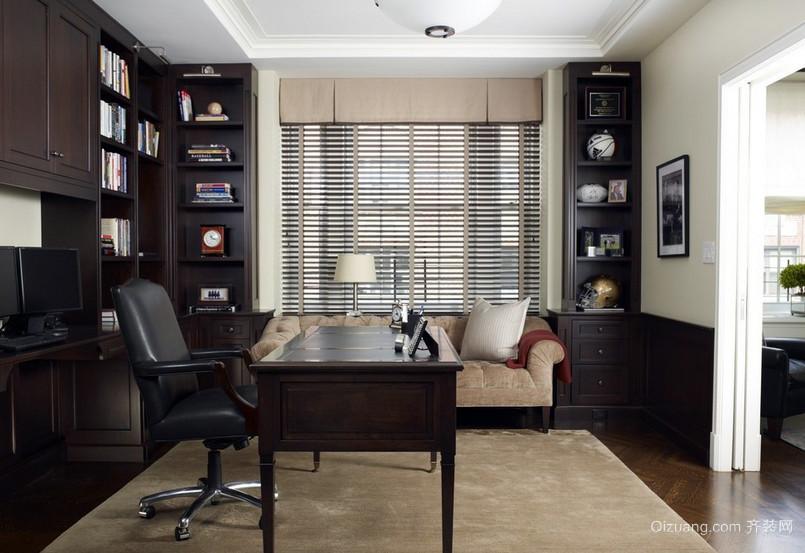欧式奢华别墅卫生间玻璃隔断墙设计图 齐装网装修效果图