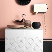 单身公寓自然风格客厅塑料储物柜效果图