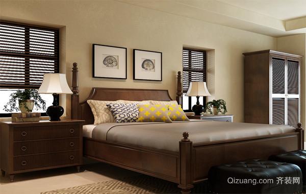 2016大户型精致的美式装修风格样板房卧室效果图