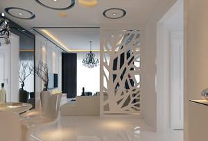 120平米大户型欧式客厅玄关隔断装修效果图