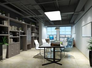 后现代风格干练经理办公室吊顶装修效果图