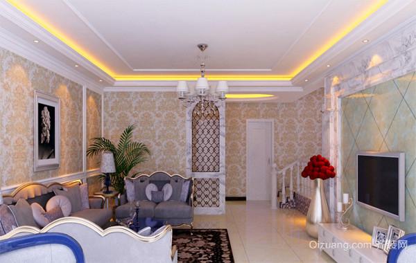 单身公寓创意系列客厅吊顶装修效果图