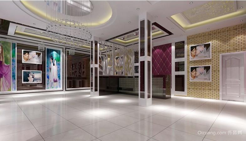 都市现代化时尚婚纱店大厅装修效果图