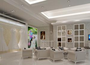140平米大型欧式简约风格婚纱店装修效果图