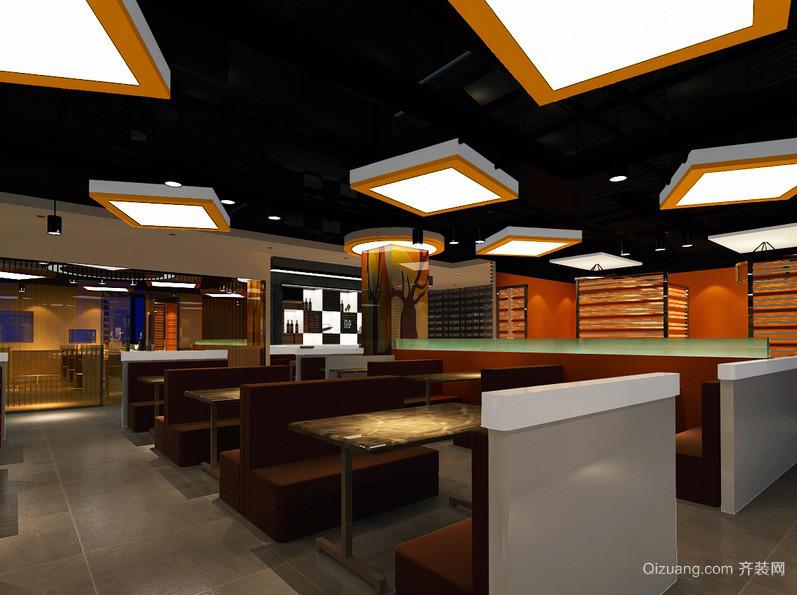 现代精致120平米大饭店装修效果图