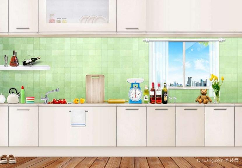 现代精致的欧式大户型开放式厨房装修效果图