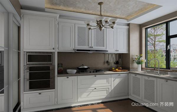 2016高贵的大户型欧式厨房橱柜装修效果图鉴赏