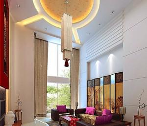小户型美式风格客厅吊顶装修效果图