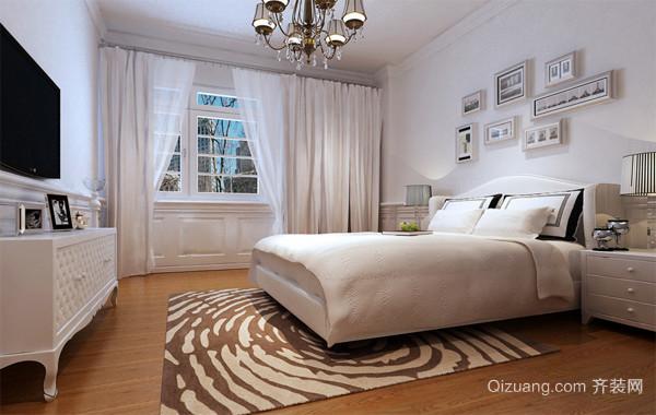 2016极致经典的大户型北欧风格卧室飘窗装修效果图