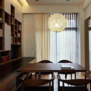 朴素温馨两室一厅开放式书房装修效果图