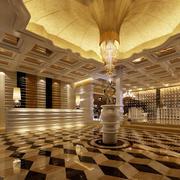 酒店大堂奢华地板装饰