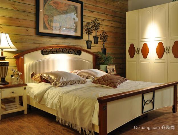 三室一厅美式简约风格卧室装修效果图