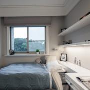 清新1居室家庭40平米小户卧室装修效果图