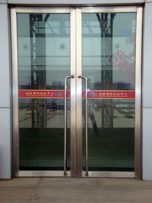 时尚风格不锈钢玻璃门效果图片