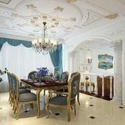 别墅法式餐厅飘窗装饰