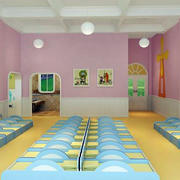 幼儿园休息卧室背景墙装饰