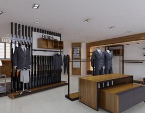 经典的时尚都市小服装店装修效果图