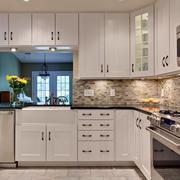 120平米地中海简约风格厨房橱柜装修效果图