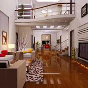 现代温馨小别墅客厅装修设计效果图