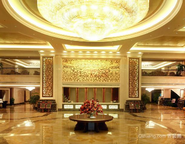 180平米大型欧式奢华风格酒店大堂装修图图片