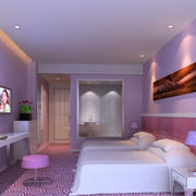 紫色调宾馆设计图片
