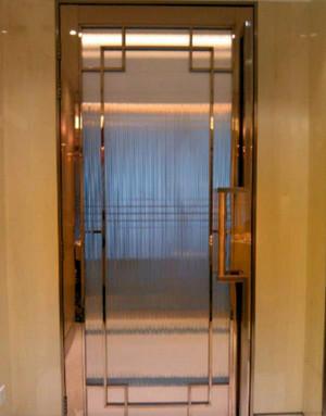 创意不锈钢玻璃门效果图片