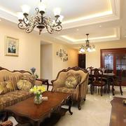 美式别墅经典客厅装饰