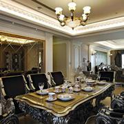 法式餐厅奢华灯饰装饰