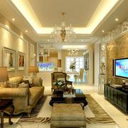 欧式风格164平米房间客厅装修效果图