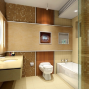 现代精美的欧式小户型卫生间装修效果图实例