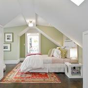 美式简约风格阁楼卧室衣柜装饰