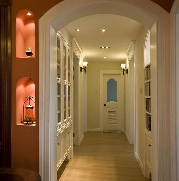 精致独特的大户型欧式走廊吊顶装修效果图鉴赏