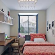 40平米小户型简约公寓温馨卧室装修效果图