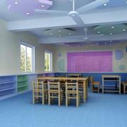 幼儿园简约会议室墙饰装饰
