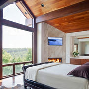 美式阁楼卧室电视背景墙