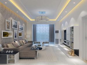 90平米大户型唯美的现代简约室内客厅装修效果图