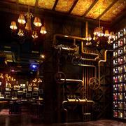 欧式酒吧精致灯饰装饰