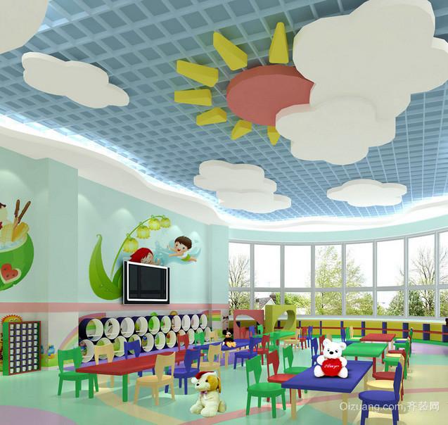 2016轻快幼儿园小班塑胶地垫装修效果图