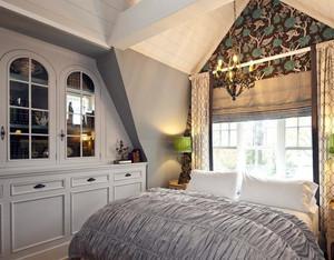 120平米斜顶阁楼美式简约风格卧室装修设计