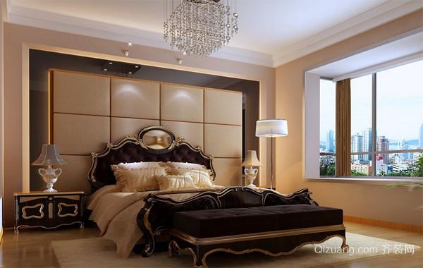 2016别墅型欧式卧室软包背景墙装修效果图鉴赏