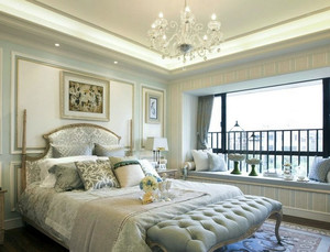 大型精密别墅法式风格卧室装修效果图