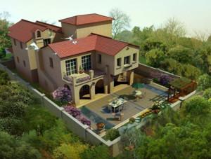 2016欧式别墅庭院设计装修效果图