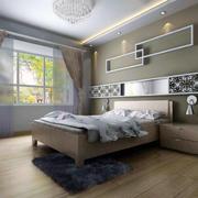 现代卧室飘窗造型图