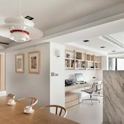 简约明亮公寓开放式书房装修效果图