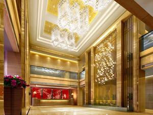 180平米大型欧式奢华风格酒店大堂装修图