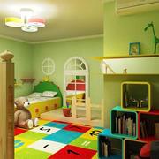 青色调儿童房效果图